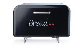 Chlebak stalowy - Czarny chlebak emaliowany na nogach