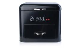 CHLEBAK STALOWY - Czarny chlebak dwupoziomowy z szufladą