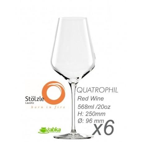 Stolzle Quatrophil - 568 ml do wina czerwonego - 6 sztuk