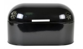 ODELO OD 1196B - Chlebak stalowy - czarny owalny