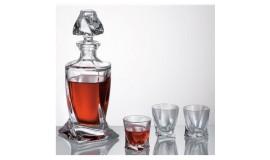 Bohemia Quadro - Zestaw do wódki z karafką / 6 osób
