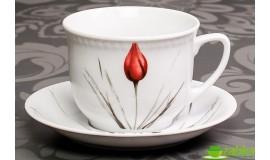 LUBIANA Victoria Tulipan - Filiżanka 300 ml + spodek 16 cm