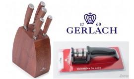 GERLACH NK979 COLONIAL - 5 noży w BLOKU + ostrzałka