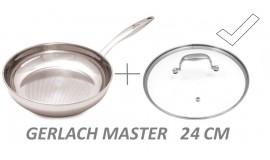GERLACH MASTER 24 cm - okrągła z pokrywką